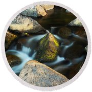 St Francis River At Dusk II Round Beach Towel