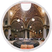 St James Cathedral Round Beach Towel