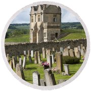 St James Church Graveyard Round Beach Towel