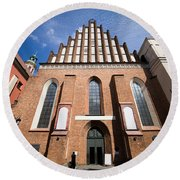St. John Archcathedral In Warsaw Round Beach Towel