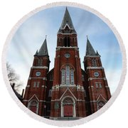 St. Josaphat Roman Catholic Church Detroit Michigan Round Beach Towel by Gordon Dean II