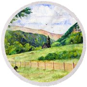 St. Kevin's And Wicklow Mountians Round Beach Towel