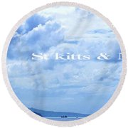 St Kitts And Nevis Poster Round Beach Towel