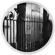 St Louis Cemetery Number One Tombs And Wrought Iron Round Beach Towel