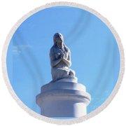 St. Louis Cemetery Statue 1 Round Beach Towel