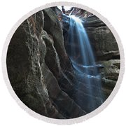 St Louis Falls Starved Rock Sp Round Beach Towel