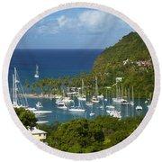 St Lucia Round Beach Towel