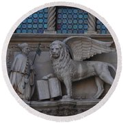 St. Marco And The Lion Round Beach Towel