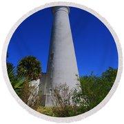 St Marks Lighthouse Round Beach Towel