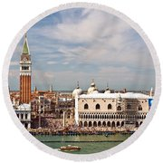 St. Marks Square Venice Round Beach Towel