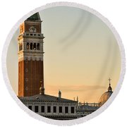 St Marks Sunset Round Beach Towel