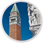St Marks Tower Round Beach Towel