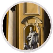 St Martin's Church Architectural Details Round Beach Towel