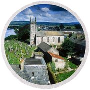 St Marys Cathedral, Co Limerick, Ireland Round Beach Towel