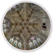 St Mary's Ceiling Round Beach Towel by Adrian Evans