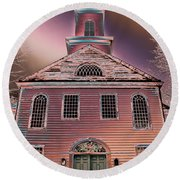St. Mary's Episcopal Church In Pastel Round Beach Towel