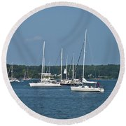 St. Mary's River Round Beach Towel