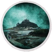 St Michaels Mount Round Beach Towel by Svetlana Sewell