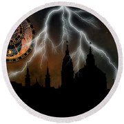 St Nikolas Church - Prague Round Beach Towel by Michal Boubin
