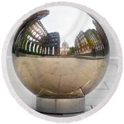 St Paul Cathedrals Reflection Round Beach Towel