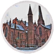 St. Paul S Episcopal Cathedral Round Beach Towel