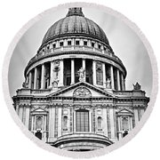 St. Paul's Cathedral In London Round Beach Towel