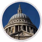 St Pauls Cathedral London Round Beach Towel