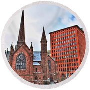 St. Paul's Episcopal Cathedral Round Beach Towel