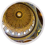St Peter's Basilica Dome  Round Beach Towel
