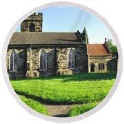 St Peter's Church - Hartshorne Round Beach Towel