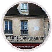 St Pierre De Montmartre Paris Scene Round Beach Towel