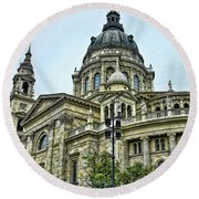 St Stephens Cathedral - Budapest Round Beach Towel