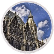 St Stephens Cathedral - Vienna Round Beach Towel