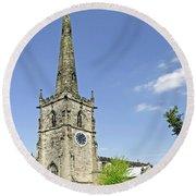 St Wystan's Church - Repton Round Beach Towel