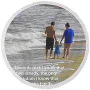 Stability Of Family Round Beach Towel
