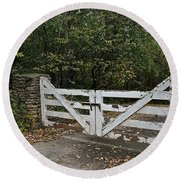 Stable Gate Round Beach Towel