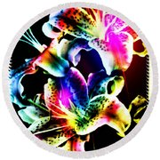 Stack Of Stargazers Dreaming Round Beach Towel