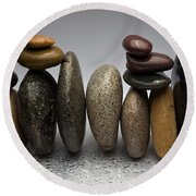 Stacked River Stones Round Beach Towel