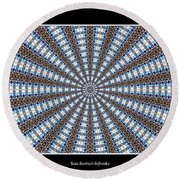 Stained Glass Kaleidoscope 32 Round Beach Towel