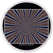 Stained Glass Kaleidoscope 49 Round Beach Towel