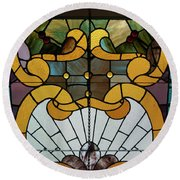 Stained Glass Lc 01 Round Beach Towel