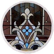 Stained Glass Lc 03 Round Beach Towel