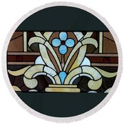 Stained Glass Lc 04 Round Beach Towel