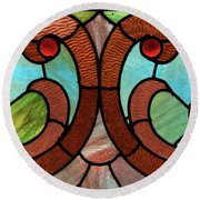 Stained Glass Lc 05 Round Beach Towel