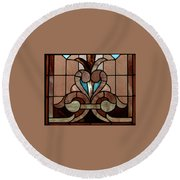 Stained Glass Lc 06 Round Beach Towel