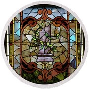 Stained Glass Lc 12 Round Beach Towel