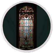 Stained Glass Lc 15 Round Beach Towel