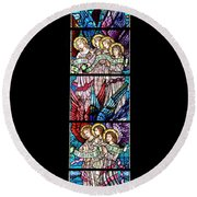 Stained Glass Pc 07 Round Beach Towel