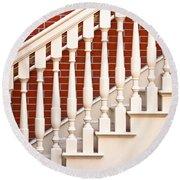 Stair Case Round Beach Towel by Tom Gowanlock