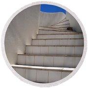 Stair To The Sky Round Beach Towel